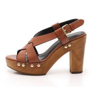 COACH Adessa Leather Crisscross Chunky Heels 👠